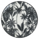 plato Postre Jangal 22cm, blanco y negro