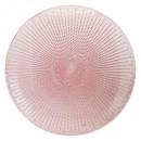 plato puntos planos rosa 28cm, rosa