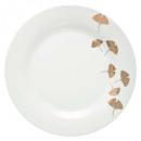 Borden bord gingko goud 27cm, veelkleurig