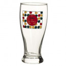 French beer glass nos 56cl, multicolored