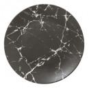 plato placa geom mármol n 27cm, negro
