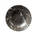 plato mármol hueco geom n 20cm, negro