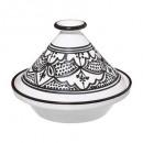 tagine dish sohan black 27cm, black & white