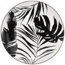 plato palma plana negra 26cm