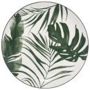 plato palma plana verde 26cm