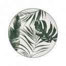 plato postre de palma verde 19cm