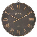 d92 metal clock, black