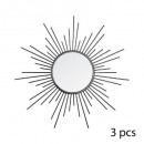 mirror metal sun x3 black d25, black