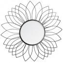 lustro metalowy kwiat nr d60, czarny