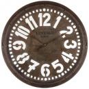 d68 opengewerkte metalen klok, bruin