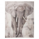 printed canvas 38x48x1,8 elephant, multicolored