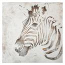 canvas pei / re zebra 100x100, veelkleurig