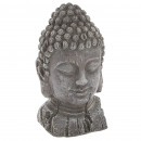 Buddha head effect wood h32, dark gray