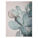 lienzo impreso / lam cactus 59x79x3, multicolor