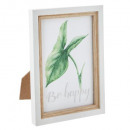 jungle wood photo frame 10x15, white