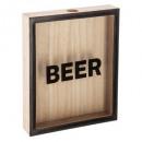 houten bierfles 25x20, veelkleurig