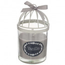 scented candle metal 200g, 3- times assorted , sin