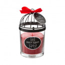 wholesale Candles & Candleholder: scented candle metal glass 200g, 3- times assorted