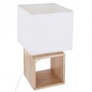 H32 square wood lamp, beige