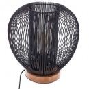 lámpara de hilo de metal negro h27, negra