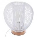 lámpara de metal blanco h27, blanco