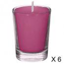 tubo de frambuesa con vela perfumada 22g x6, rosa
