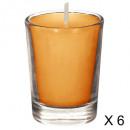 tubo perfumado de vela fr exo 22g x6, naranja