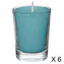 vela perfumada coco tubo 22g x6, azul