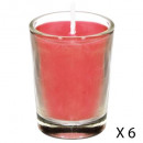 scented candle tube fig nina x6, red