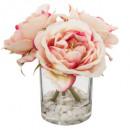 komplett váza vr kert H14, rózsaszín