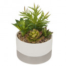 artificial plant pot ceramic bico d14, gray