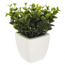 artificial plant pot ceramic h15, 3- times assorte