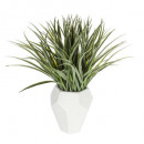 green ceramic plant contemp h48, white