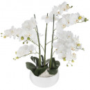 orchidee ceramic pot white h65, white