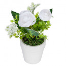 white flower pot cim h16, 2- times assorted , whit