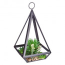 plant artificial metal contemp h28.5, black