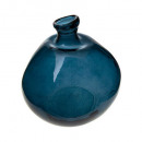 round vase vr recycled storm d33, blue