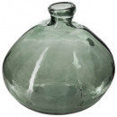 round recycled glass vase khaki d45, green khaki