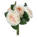 boeket 5 roze bloem h30, roze