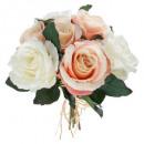ramo 7 rosa envejecido h30, rosa