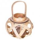 lanterne bois nomade d21xh16.5, 2-fois assorti, co