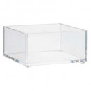 square storage tray, transparent