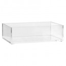 plateau rangement rectangle s selena, transparent