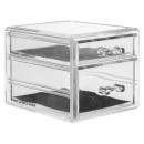 wholesale Jewelry Storage: jewelry box 2 drawers, transparent