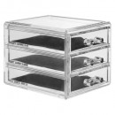 jewelry box 3 drawers, transparent
