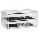 wholesale Jewelry Storage: jewelry box 2 drawers m, transparent