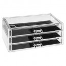 wholesale Jewelry Storage: jewelry box 3 drawers l, transparent