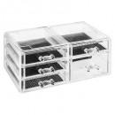 Großhandel Schmuck & Uhren: Schmuckschatulle 5 Schubladen l, transparent