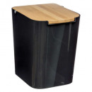 trash can 5l black, black