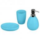 bathroom accessories x 3 sun turquo, taupe